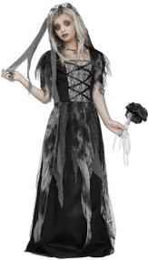 Girls Cemetery Bride Fancy Dress Costume
