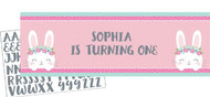 Bunny Personalised Party Banner