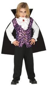 Boys Purple Vampire Fancy Dress Costume