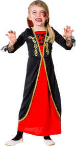 Girls Classic Vampire Fancy Dress Costume