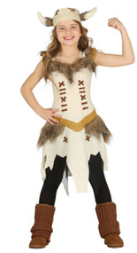 Girls Historical Viking Fancy Dress Costume