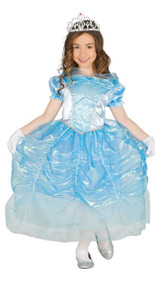 Girls Blue Swan Princess Fancy Dress Costume