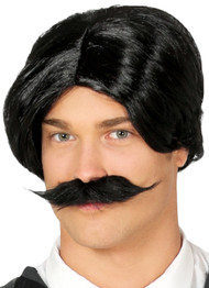 Mens Spooky Dad Fancy Dress Wig