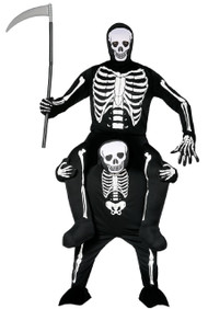 Adults Ride On Skeleton Reaper Fancy Dress Costume