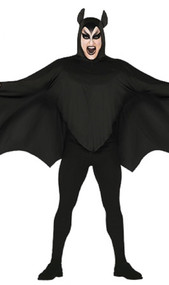 Mens Black Bat Fancy Dress Costume