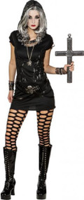 Ladies Sexy Skeleton Mistress Fancy Dress Costume