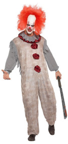 Mens Vintage Horror Clown Fancy Dress Costume