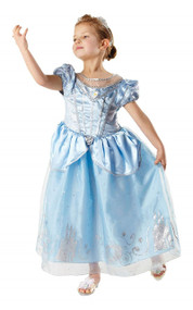 Girls Anniversary Cinderella Fancy Dress Costume