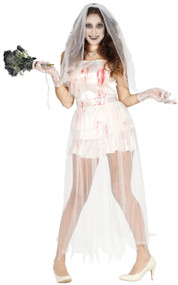 Ladies Sexy Ghost Bride Fancy Dress Costume