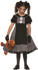 Girls Possessed Doll Fancy Dress Costume