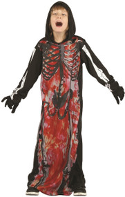 Boys Fire Skeleton Fancy Dress Costume