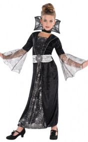 Girls Dark Countess Fancy Dress Costume