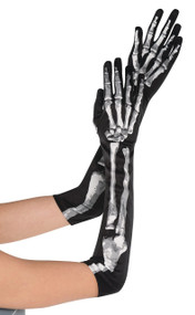 Ladies Long Skeleton Gloves