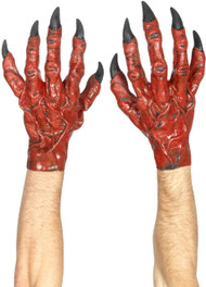 Mens Devil Hands Fancy Dress Gloves