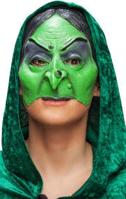 Ladies Green Witch Fancy Dress Mask