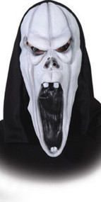 Mens Pumpkin Ghost Fancy Dress Mask