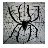 Large Spider & Web Halloween Prop