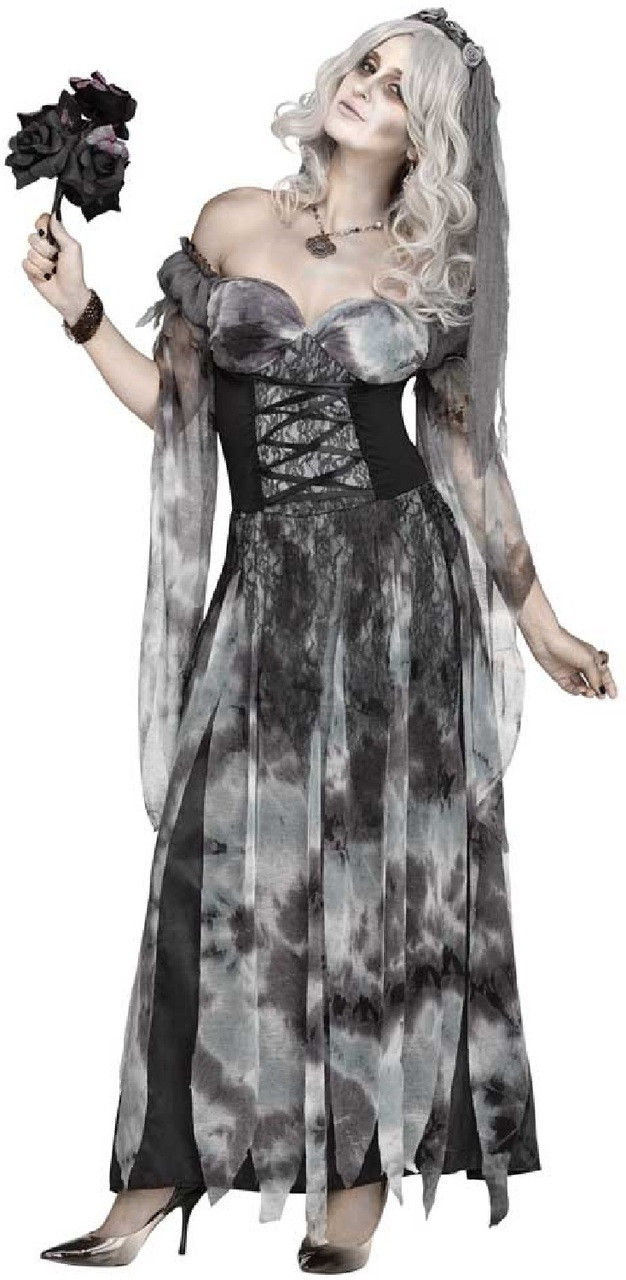 Ladies Sexy Cemetery Bride Fancy Dress Costume Fancy Me Limited