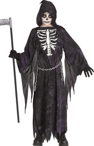 Boys Grim Reaper Fancy Dress Costume