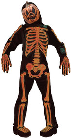 Boys Pumpkin Skeleton Fancy Dress Costume