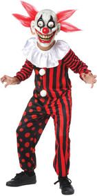 Boys Crazy Eyed Clown Fancy Dress Costume