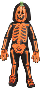 Toddler Boys Pumpkin Skeleton Fancy Dress Costume