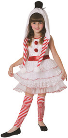 Girls Cute Snowman Fancy Dress Costume