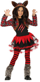 Girls Werewolf Tutu Fancy Dress Costume