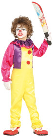 Boys Classic Killer Clown Fancy Dress Costume