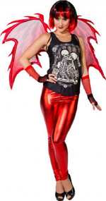 Ladies Sexy Modern Devil Fancy Dress Costume