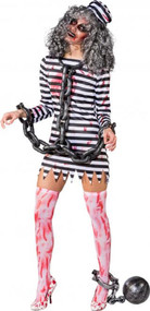Ladies Dead Guilty Zombie Fancy Dress Costume