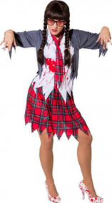 Ladies Dead Intelligent Zombie Fancy Dress Costume