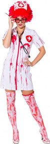 Ladies Killer Nurse Fancy Dress Costume