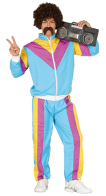 Mens Retro Tracksuit Fancy Dress Costume