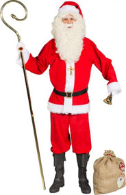 Mens Deluxe Santa Claus Fancy Dress Costume