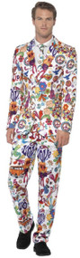Mens 70s Graffiti Art Fancy Dress Suit