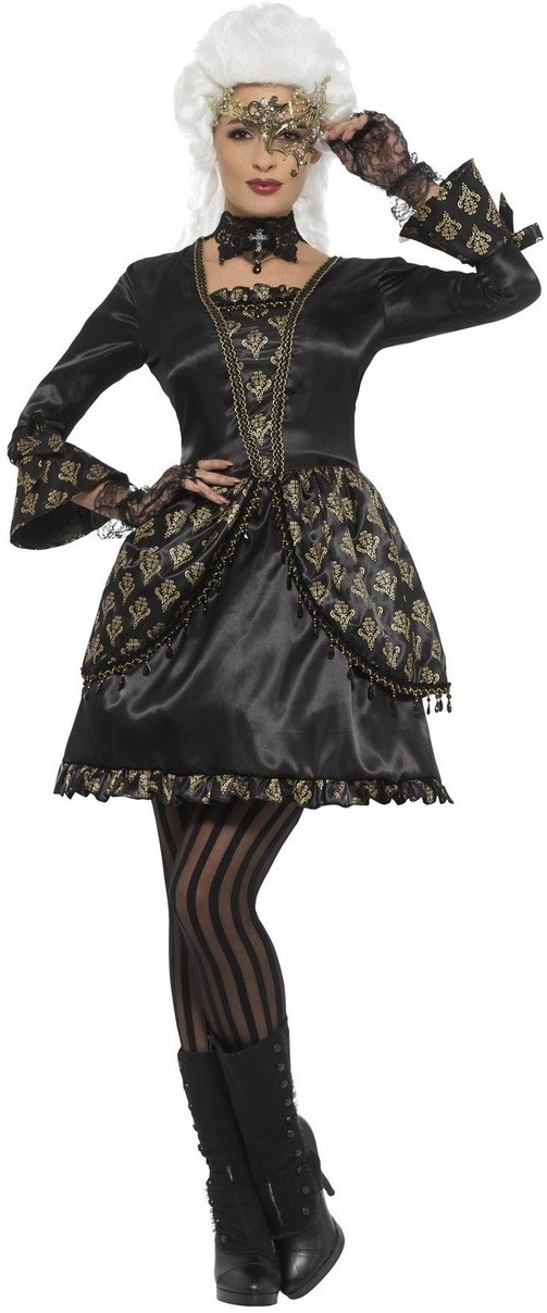 Men Adults Fancy Dress Party Deluxe Gothic Masquerade Phantom Costume Outfit