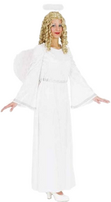 Ladies Angel Gabriel Fancy Dress Costume