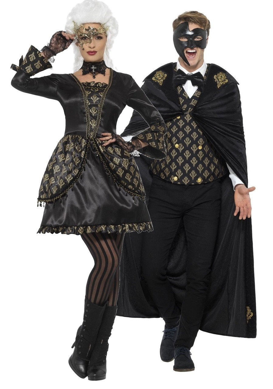 27ce6bf82a59 Couples Deluxe Masquerade Fancy Dress Costume. Previous. Image 1