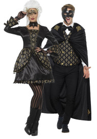 Couples Deluxe Masquerade Fancy Dress Costume