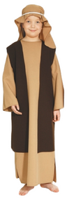 Boys Brown Joseph Fancy Dress Costume