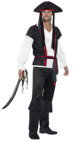 Mens Aye Aye Pirate Fancy Dress Costume