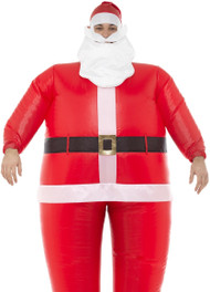 Adults Inflatable Santa Fancy Dress Costume