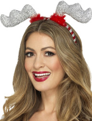 Ladies Glitter Antlers Fancy Dress Accesory