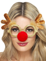 Adults Rudolph Fancy Dress Glasses