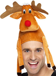 Adults Comedy Rudolph Fancy Dress Hat