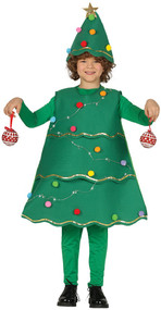 Child's Light Up Xmas Tree Fancy Dress