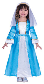 Girls Traditional Mary Fancy Dress Costume