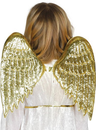 Childs Gold Angel Wings