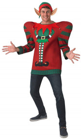 Mens Oversized Elf Fancy Dress Jumper